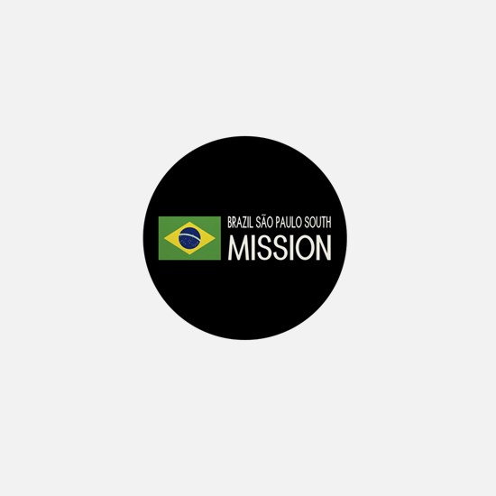 Brazil, São Paulo South Mission (Flag) Mini Button