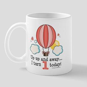 First 1st Birthday Hot Air Balloon Mug