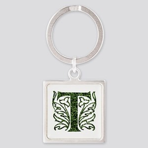 Ivy Monogram T - Square Keychain