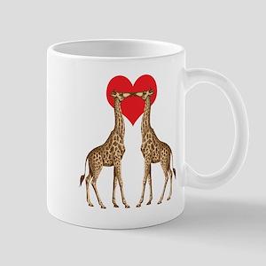 Giraffes Kissing Mugs
