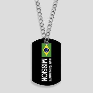 Brazil, São Paulo West Mission (Flag) Dog Tags