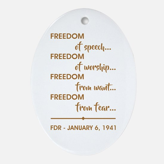 FREEDOM OF... Oval Ornament