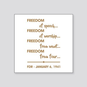 "FREEDOM OF... Square Sticker 3"" x 3"""