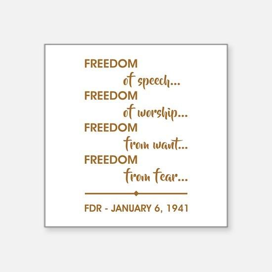 "FREEDOM OF... Square Sticker 3"" x 3"""