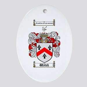 Walsh Coat of Arms Oval Ornament