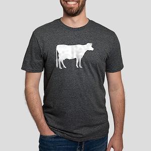 Cow: White Mens Tri-blend T-Shirt