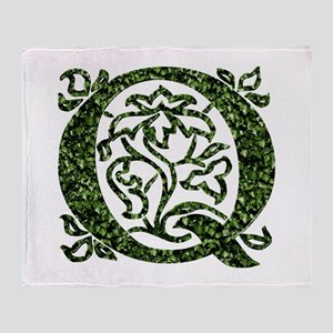 Ivy Monogram Q Throw Blanket
