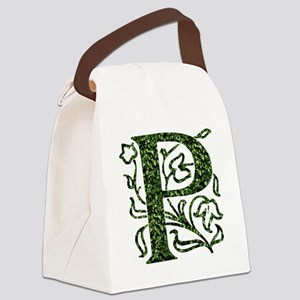 Ivy Monogram P - Canvas Lunch Bag