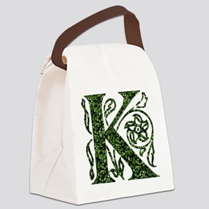 Ivy Monogram K - Canvas Lunch Bag