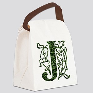 Ivy Monogram J - Canvas Lunch Bag