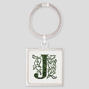 Ivy Monogram J - Square Keychain