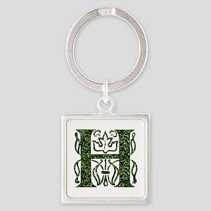 Ivy Monogram H - Square Keychain