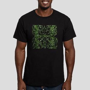Ivy Monogram H - Men's Fitted T-Shirt (dark)