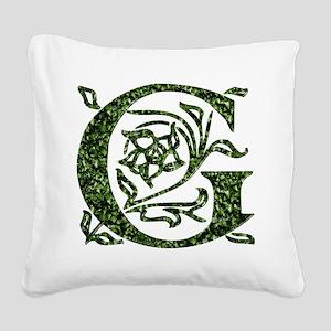 Ivy Monogram G - Square Canvas Pillow