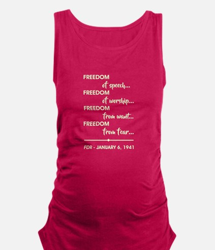 FREEDOM OF... Maternity Tank Top