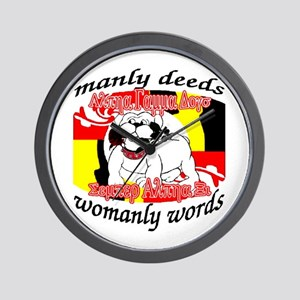 Alpha Gamma Dogs - Semper Alp Wall Clock
