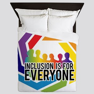 Inclusion Is For Everyone Queen Duvet