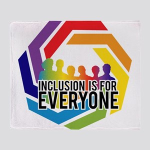Inclusion Is For Everyone Throw Blanket