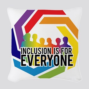 Inclusion Is For Everyone Woven Throw Pillow