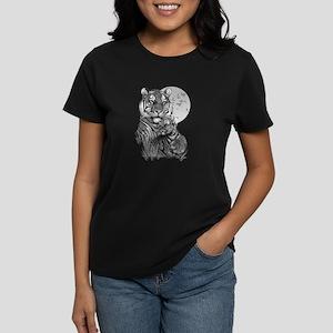 Tiger and Cub (B/W) Women's Dark T-Shirt