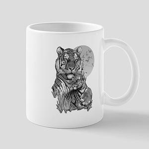 Tiger and Cub (B/W) Mug