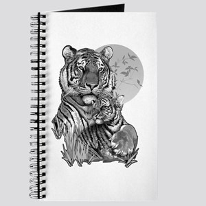 Tiger and Cub (B/W) Journal