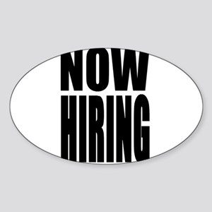 Now Hiring Sticker