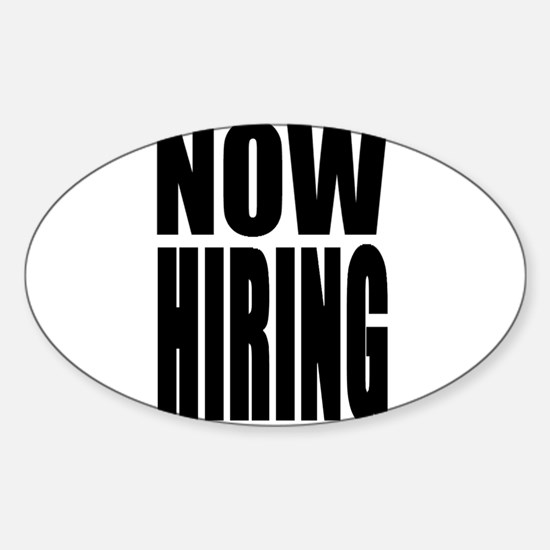 Now Hiring Decal