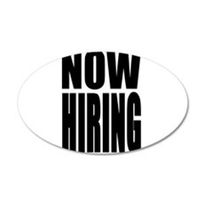 Now Hiring Wall Decal