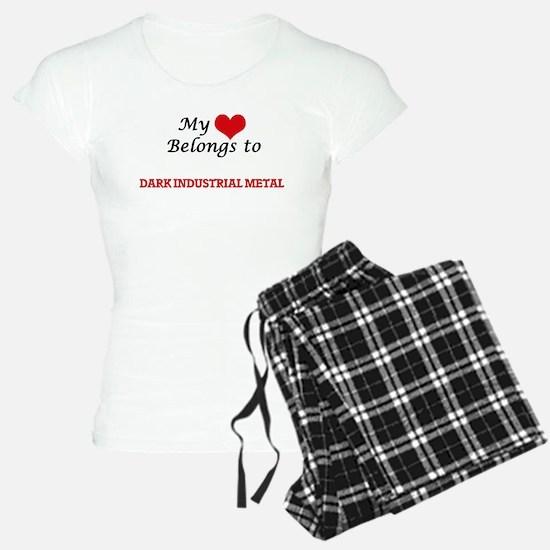 My heart belongs to Dark Industrial Metal Pajamas