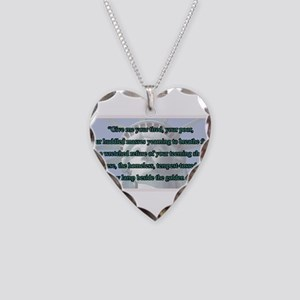 Lady Liberty's Give Me Your T Necklace Heart Charm