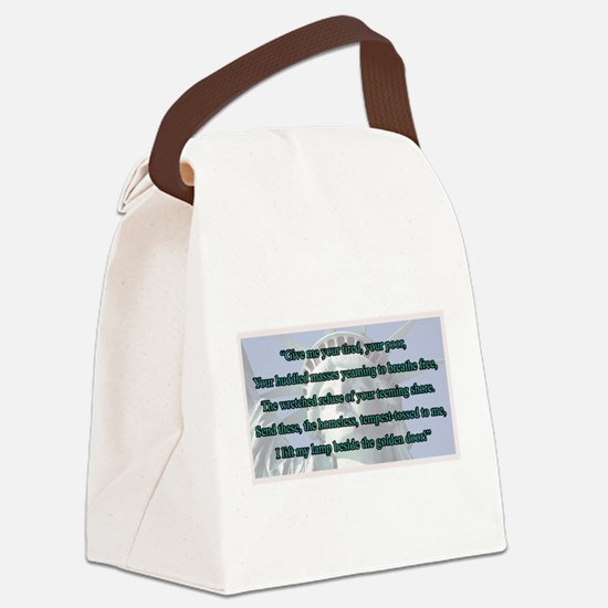 Lady Liberty's Give Me Your Tired Canvas Lunch Bag