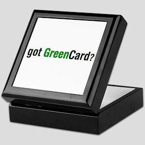 got Green Card Keepsake Box