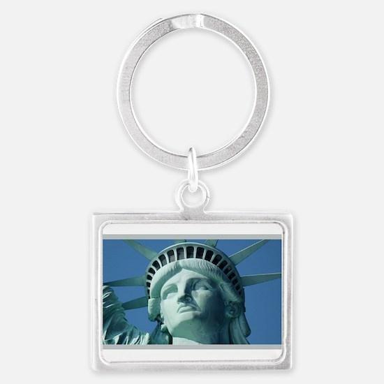 Lady Liberty Landscape Keychain