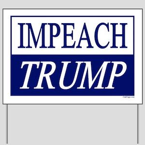 Impeach Trump Blue & White Yard Sign