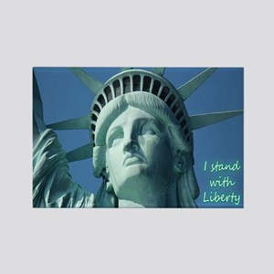 """I Stand With Liberty"" (lower rig Rectangle Magnet"