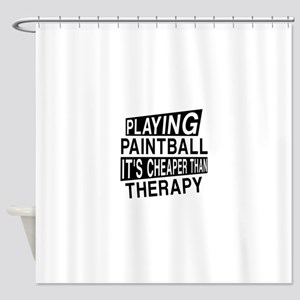 Awesome Paint Ball Player Designs Shower Curtain