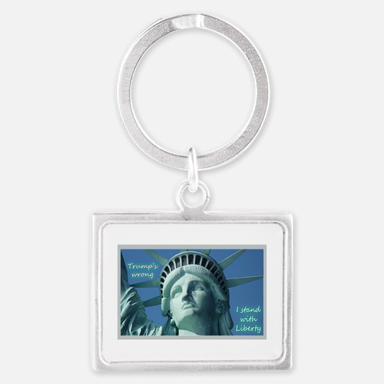 Trump's Wrong - I Stand With Li Landscape Keychain