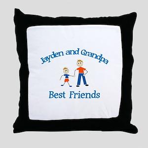 Jayden & Grandpa - Best Frien Throw Pillow