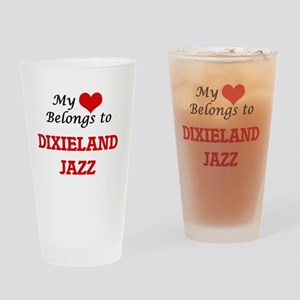 My heart belongs to Dixieland Jazz Drinking Glass