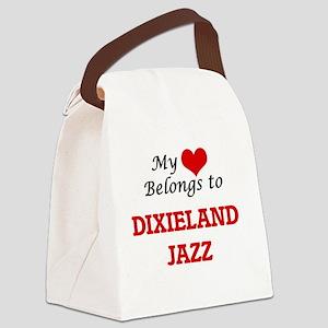 My heart belongs to Dixieland Jaz Canvas Lunch Bag