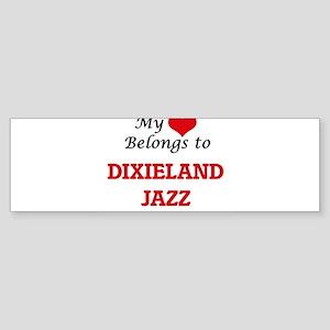 My heart belongs to Dixieland Jazz Bumper Sticker