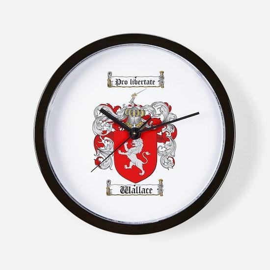 Wallace Coat of Arms Wall Clock