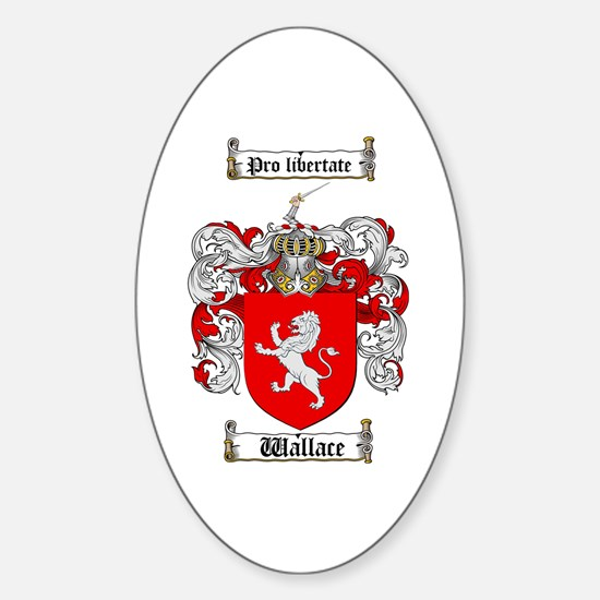 Wallace Coat of Arms Oval Decal