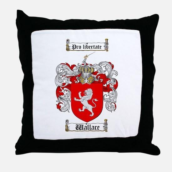 Wallace Coat of Arms Throw Pillow