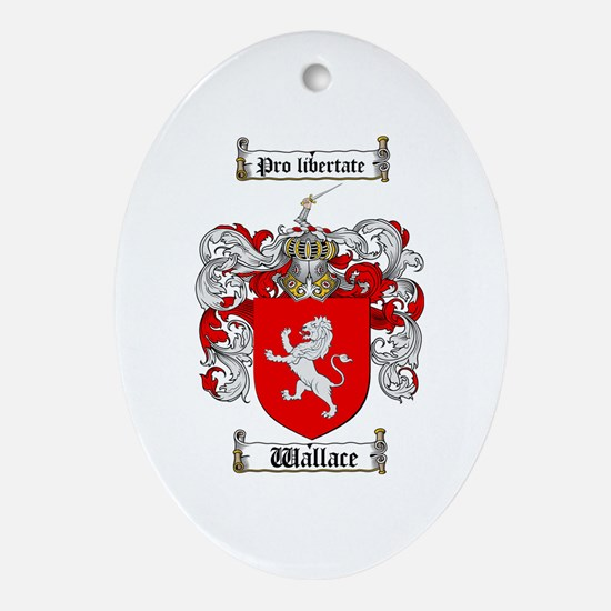 Wallace Coat of Arms Oval Ornament