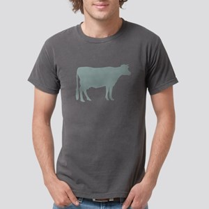 Cow: Chalky Blue Mens Comfort Colors Shirt