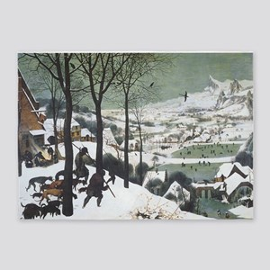Hunters in the Snow 5'x7'Area Rug