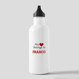 My heart belongs to Fr Stainless Water Bottle 1.0L
