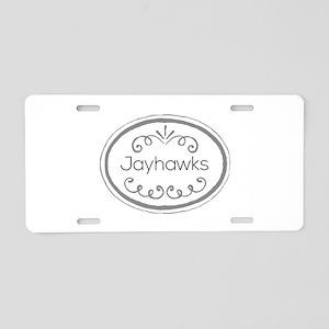 Jayhawks Aluminum License Plate